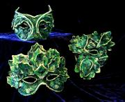 """Green Man"" Masks by Patience"