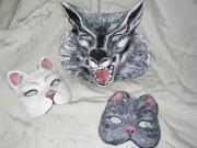 Wolf and Cat Masks by Patience