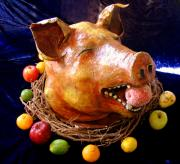 'Vegetarian' Boar's Head by Patience