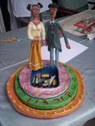 bride&groom cake by Libi Fadlon