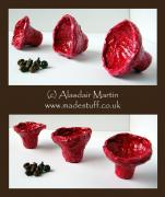 Red Mould Bowls by Alasdair Martin