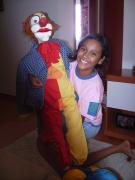 "Clown "" Meleca"". Doll ventríloco in paper marches with size of 1,20m by Jorge Eduardo"