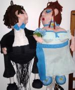 Bride and groom piñata by Claudia Clemente