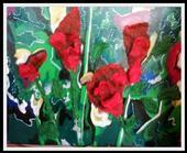 red flowers by Marion Thiele