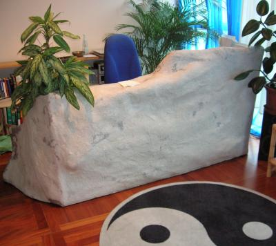 """papermaché stone  room-divider"" by Erna Rea Valentini"