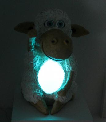 """Lamb Night Light with Light on"" by Philip Bell"