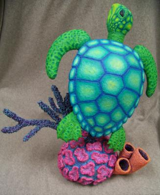 """Teal Turtle"" by Philip Bell"