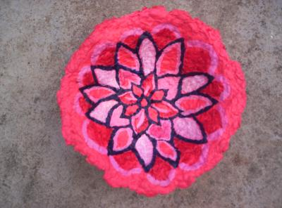 """1,000 petaled lotus bowl"" by Michelle Isava"