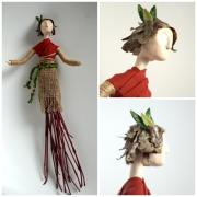 Art Doll on the Wall by Holly St.Denis