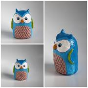 Little Blue Owl by Holly St.Denis