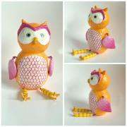 Orange Owl by Holly St.Denis