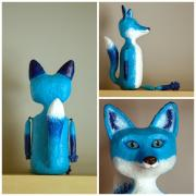 Blue Fox by Holly St.Denis