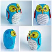 Blue Crazy Owl by Holly St.Denis