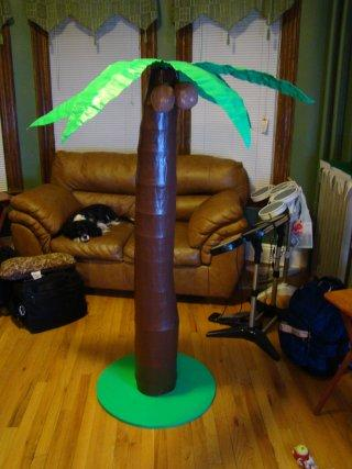 how to make a paper mache palm tree