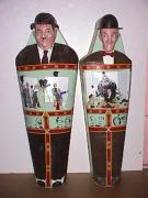"Laurel & Hardy Mummy Cases 75"" x 26"" x 20 by Gabriel Paolieri"