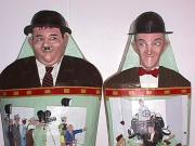 Laurel & Hardy Mummy Cases (Face details) by Gabriel Paolieri