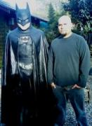 Life-size Batman and me by Art Lopez
