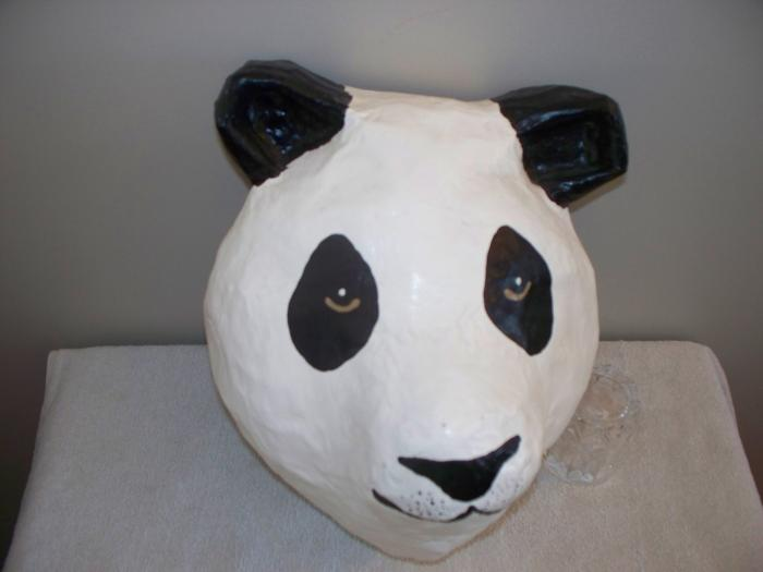 Try this quick & easy to make DIY animal costume, paper panda mask ... | 525x700