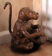 'Gawie' our Papier Mache Baboon by Anne Marie and Karen