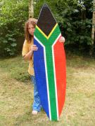 Paper Mache Surfboard by Anne Marie and Karen
