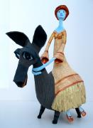 princess on a donkey by Sigal Yaron