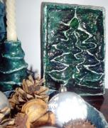 Christmas decorations in silver and green by Iva Mincheva