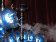 "Caterpillar at the ""Alice in Wonderland"" Party, Smoking His Hookah by Karen Stix"