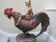 Fox and Chicken by Louise Vergette