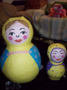 Russian doll pinatas by Siobhan Gallgher