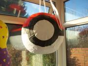Pokeball hanging storage by Siobhan Gallgher