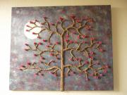 First papier mache canvas by Siobhan Gallgher