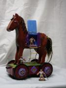 Trojan horse pull-toy by Jan L. Wendt
