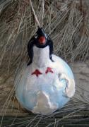 Limited Edition Penguin Icecap Ornament by Sarah Hage
