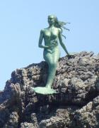 Paper mache mermaid with the Antikythera mechanism by Prokopis Demonakos