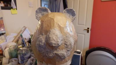 """Giant Panda head"" by Caz James"