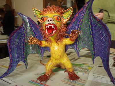 """A Linares Alebrije, commissioned by Marcella Montoya-Turnill"" by PapierMachistas"