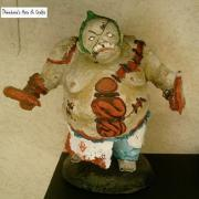 Pudge from Dota2 paper mache sculpture handmade by me! by Theodora Spanides