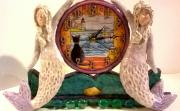 Sailing By (mermaid Clock) by Annie Bostwick