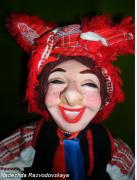 the merry doll in the Byelorussian national costume by Nadezhda Razvodovskaya