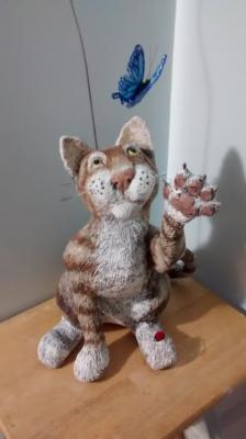 """Paper Mache Cat"" by Marilyn Kalbhenn"