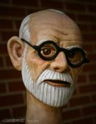 Freud Puppet Head by Creaturiste