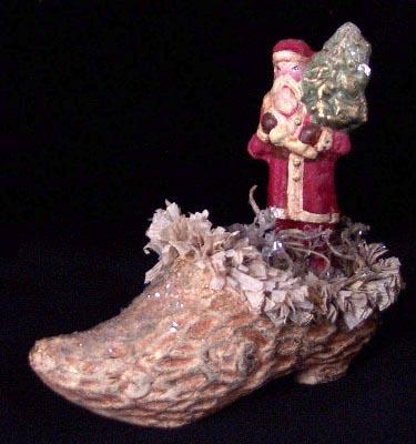 """Santa in Shoe"" by Kitty Forseth"