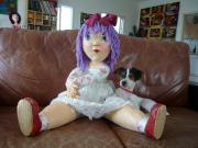 a new papermache doll by Tiva Noff