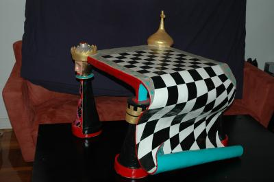 """chess table"" by Frida  Abramsky"