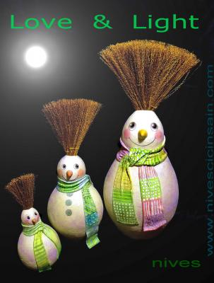 """happy snow man trio"" by Nives Cicin-Sain"