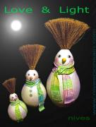 happy snow man trio by Nives Cicin-Sain