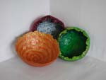 Three Small Bowls by Sue Hibberd